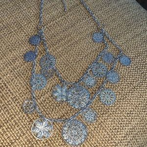 Costume silver necklace